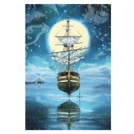 Открытка «Летающий корабль»