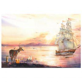Открытка «Корабль»